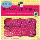 DCWV Box of Chipboard The Blossoms & Butterflies Foiled Alphabet